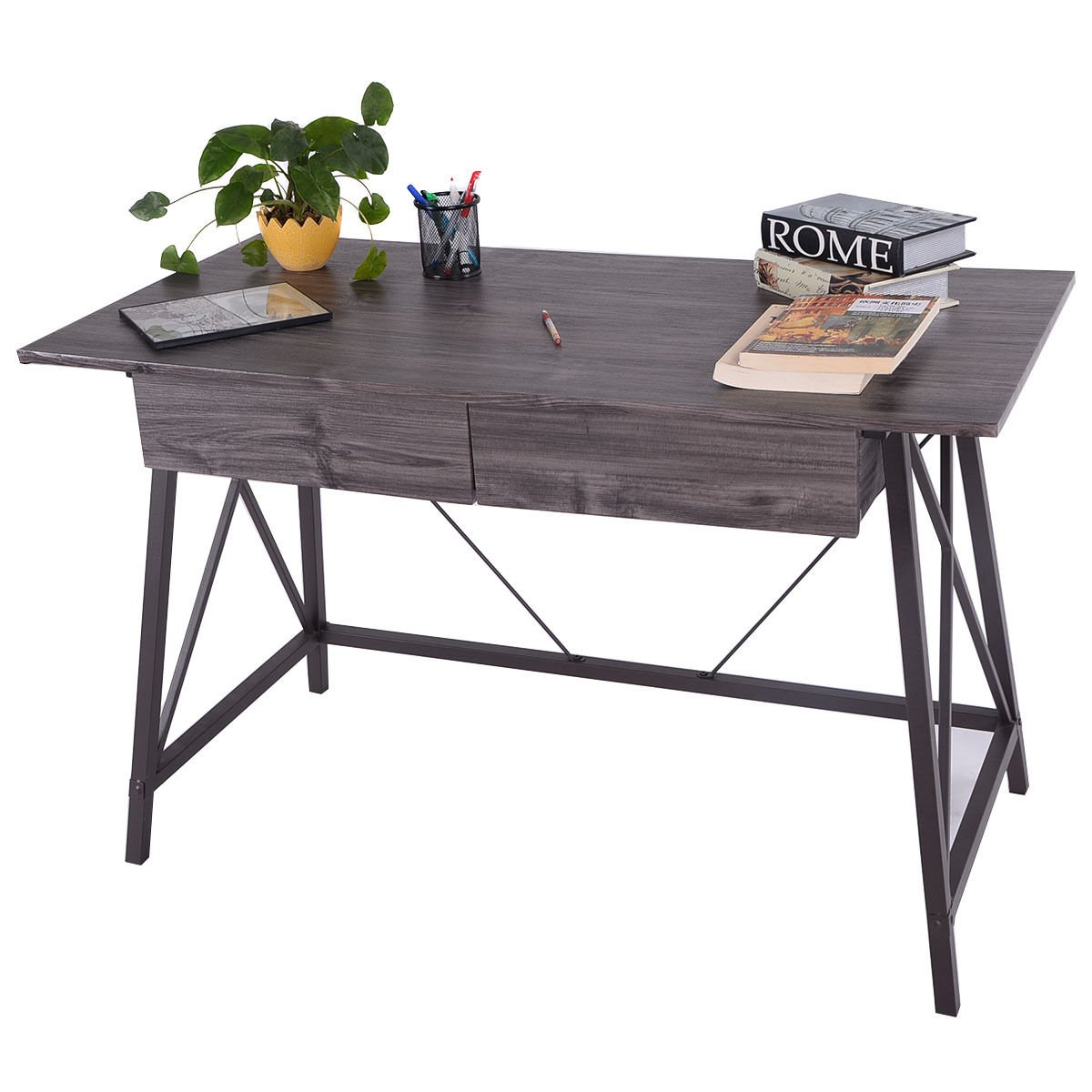 furniture for computers at home. Amazon.com: Wood Writing Desk Computer Table With Drawers Home Office  Furniture Workstation: Kitchen \u0026 Dining Furniture For Computers At Home S