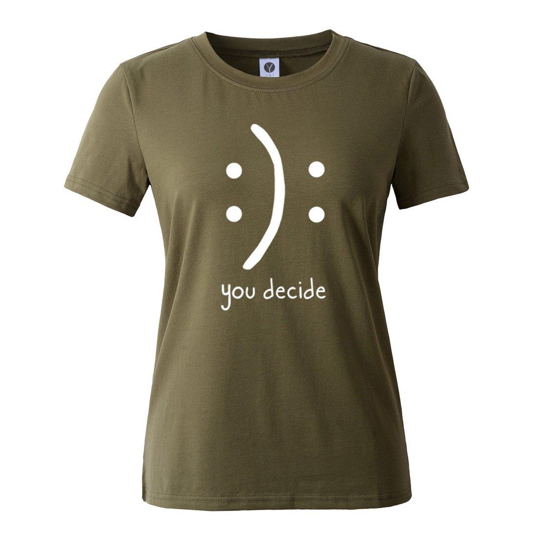 8ecff86695c Amazon.com: BLACKMYTH Women's T-Shirts Cotton Funny Grahpic Design Casual  Short Sleeve Top Tees: Clothing