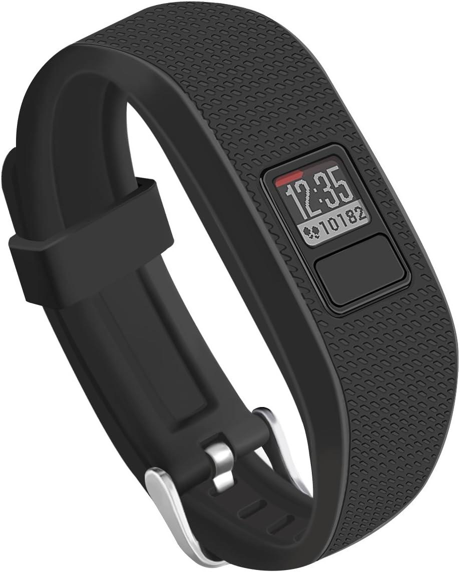 Malla para reloj Garmin Vivofit 3 (negra, silicona)
