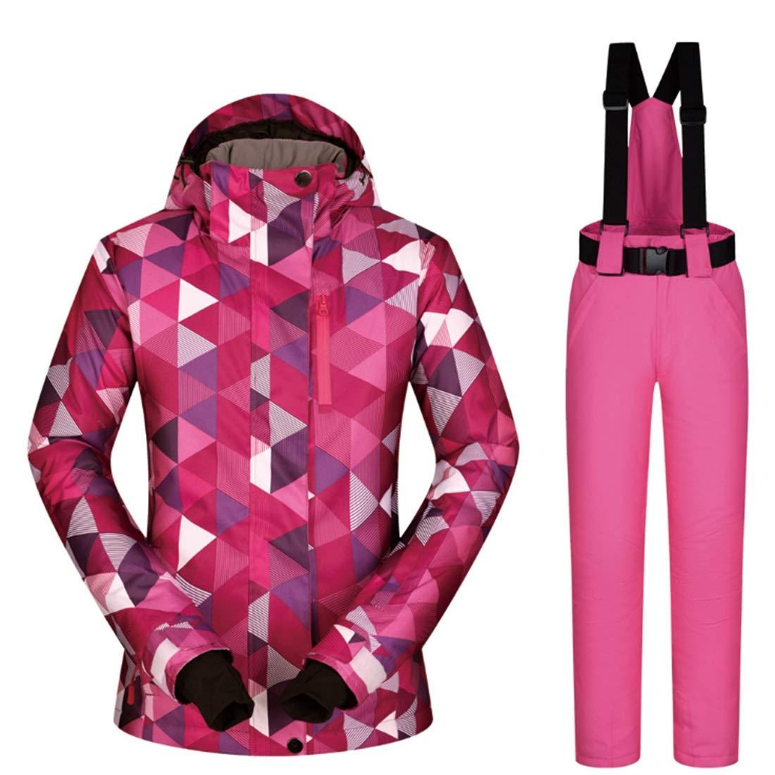7 XIAMEND Warm Mountain Ski Jacket, Waterproof Windproof Winter Raincoat for Women (color   06, Size   S)