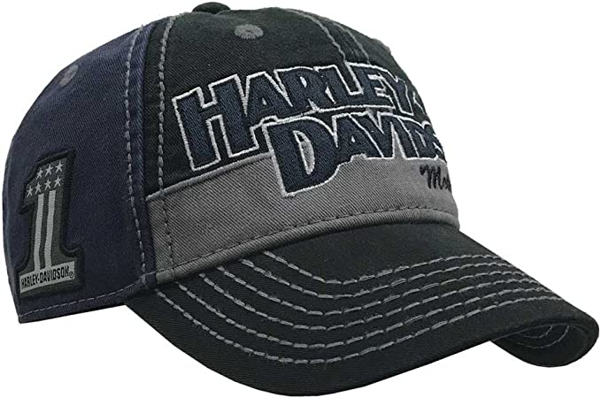 Harley-Davidson Mens Block H-D Name Baseball Cap BC10389: Amazon ...