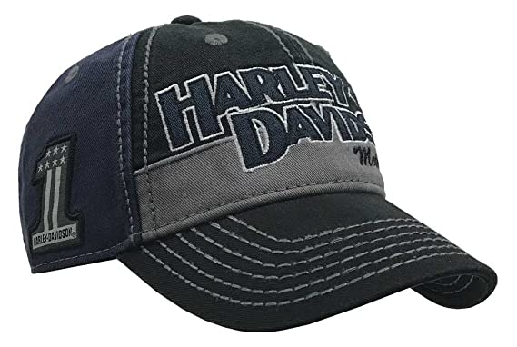 6538bea0d44 Amazon.com  Harley-Davidson Men s Block H-D Name Baseball Cap ...