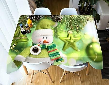 S-vision Manteles Verde De Navidad Muñeco De Nieve Cocina Comedor ...