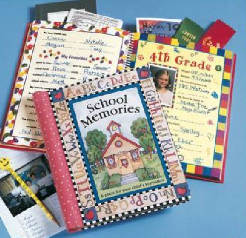 Deluxe School Memories Keepsake Photo Album Scrapbook from Preschool Through 12th Grade by New Seasons