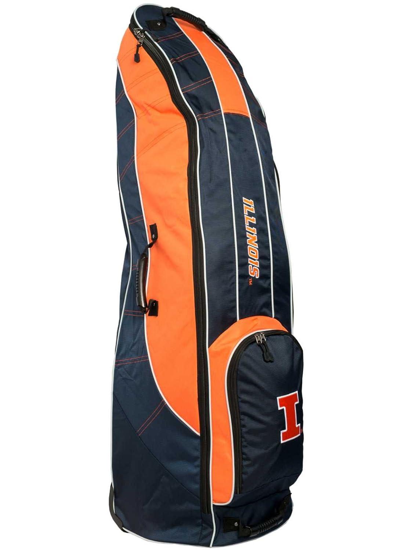 Illinois Fighting IlliniチームゴルフネイビーゴルフクラブWheeled Luggage Travel Bag B01MTN1LV0