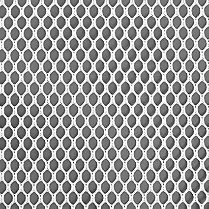Amazon.com: 4mm Polyester Hex Mesh - White Fabric - by the Yard