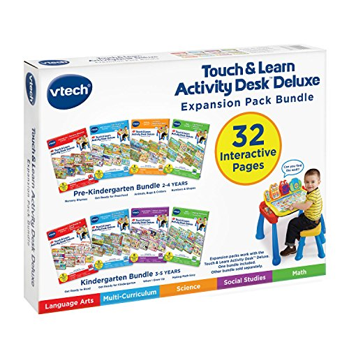 VTech Touch & Learn Activity Desk Deluxe 4-in-1 Preschool Bundle Expansion Pack I for Age 2-4 by VTech (Image #6)