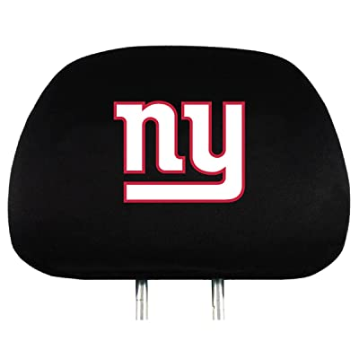 NFL New York Giants Head Rest Covers, 2-Pack: Sports & Outdoors