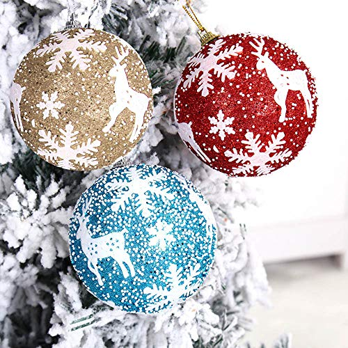 New Tuscom Christmas Balls Hanger Baubles,for Xmas Tree Hanging Ornament Party Decor(3 Colors) (Gold, S) by Tuscom@ (Image #2)