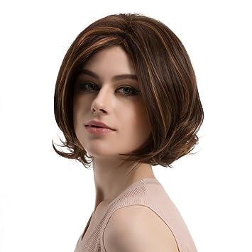 Amazon Com Lvyuanda Women Shoulder Length Wigs Highlight Dark