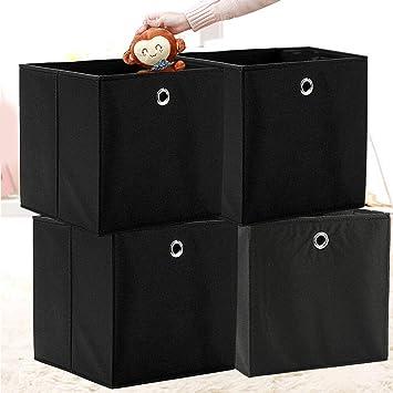 4er Faltbox Aufbewahrungsbox Stoff Faltkiste Ordnungssystem ohne Deckel Organize