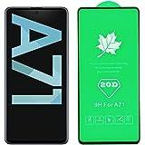 TiYa Mica para Samsung Galaxy A71 Protector de Pantalla (2 Piezas)(Refuerzo secundario) Cristal Templado Screen Vidrio…
