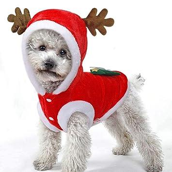Ropa de Navidad para perro, disfraz de perro de invierno para perros pequeños, gatos, chihuahua, Yorkshire Terrier, Ropa para perro extra-small: Amazon.es: ...
