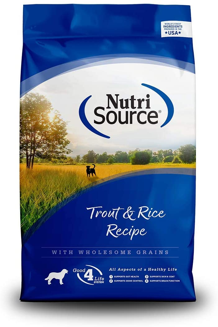 Nutrisource Trout & Rice Dog Food 30 Lb
