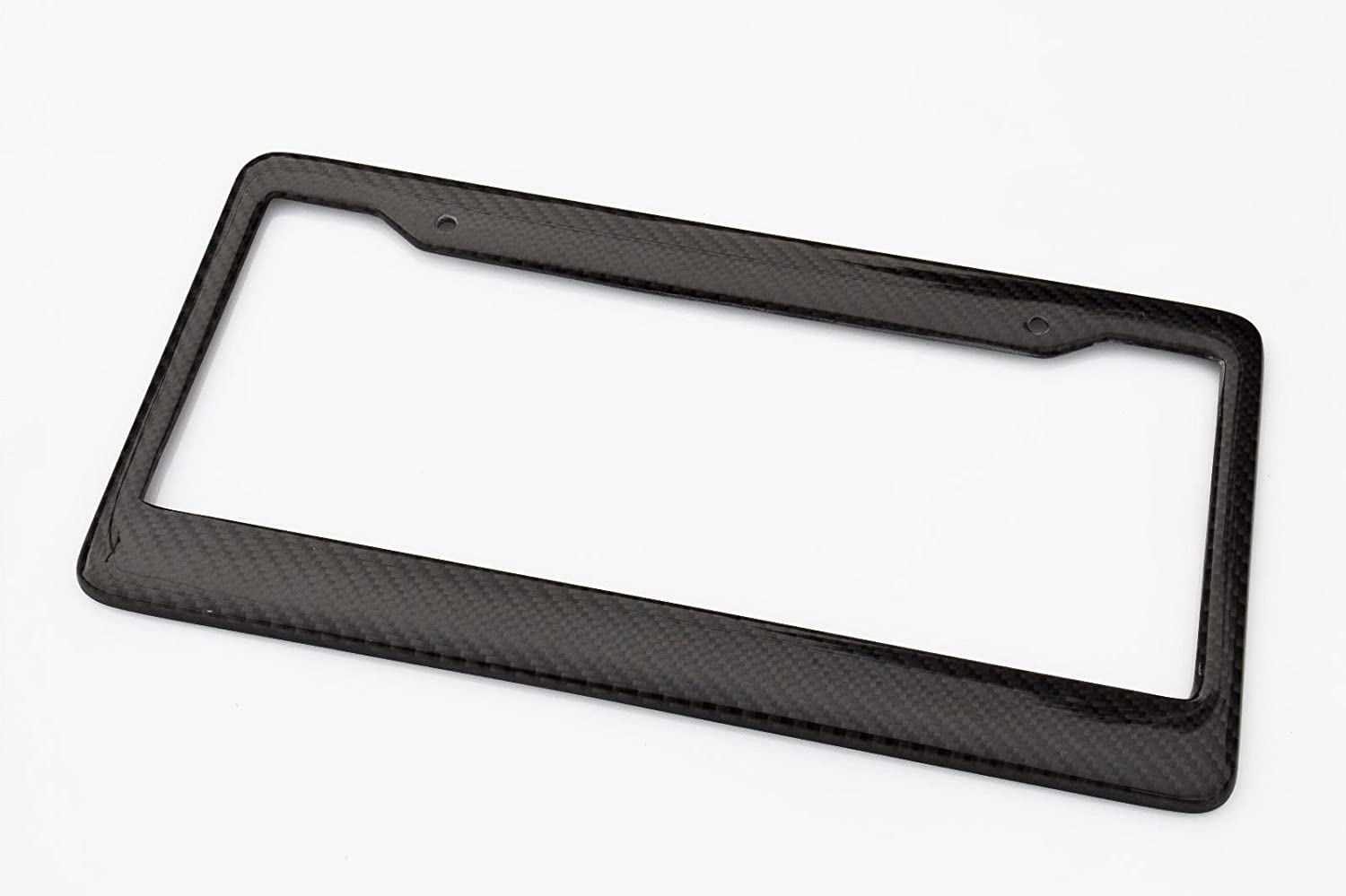 1 Frame BLVD-LPF OBEY YOUR LUXURY  Real 100/% Carbon Fiber License Plate Frame Tag Cover FF C With Matching Screw Caps