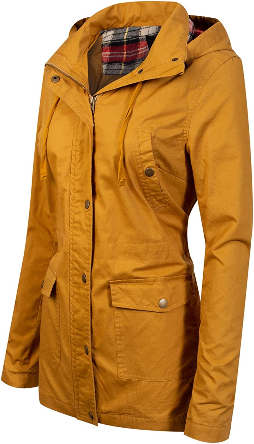 Design by Olivia Womens Anorak Safari Hoodie Jacket up to Plus Size