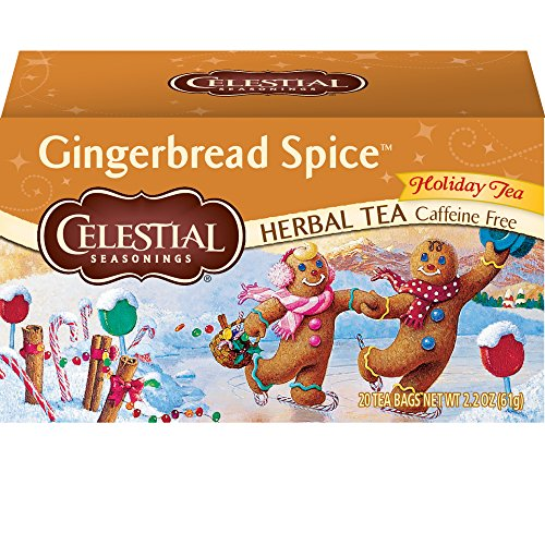 - Celestial Seasonings Herbal Tea, Gingerbread Spice, 20 Count, Pack of 6