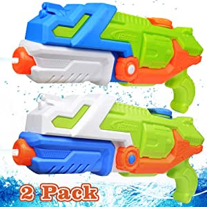 EZIGO Water Guns 1050CC High Capacity Water Blaster, Shooting Up to 38 Ft Water Pistol Squirt Guns for Kids and Adults Summer Outdoor Swimming Pool Beach Water Fighting Toys (2 Pack)