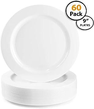 Colecciones De Encaje Blanco de oro cristal Vajilla de plástico Paquete
