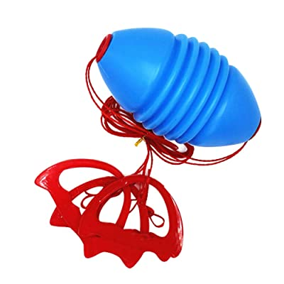 Fastkoala Outdoor Shuttle Ball Fitness Pull Ball Double Combination Sports Speed Training Equipment Outdoor Tug-of-war Game Pulling Ball Zipper Ball for Parent-Child Interactive Games, Blue: Toys & Games