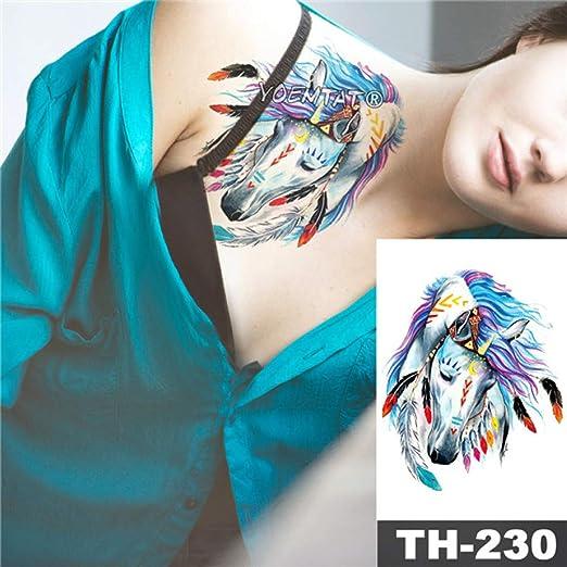 tzxdbh 5Pcs-Etiqueta de Tatuaje a Prueba de Agua Acuarela Splash ...