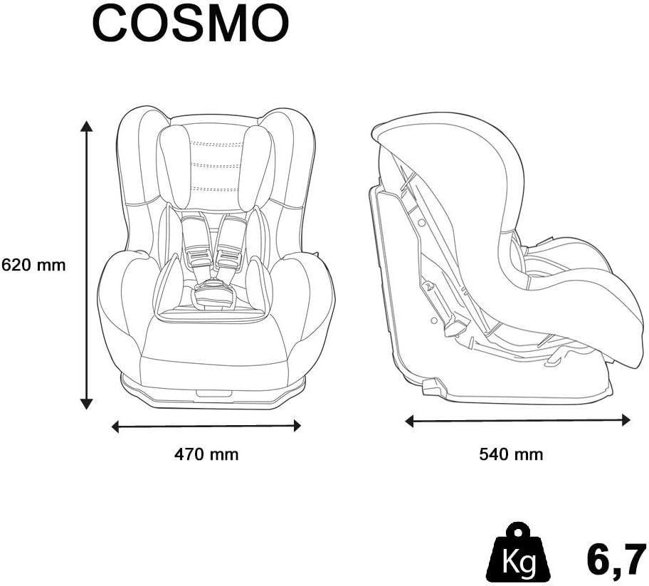 Nania Pop Gris de 0 /à 18 kg Mycarsit Si/ège Auto COSMO Groupe 0//1