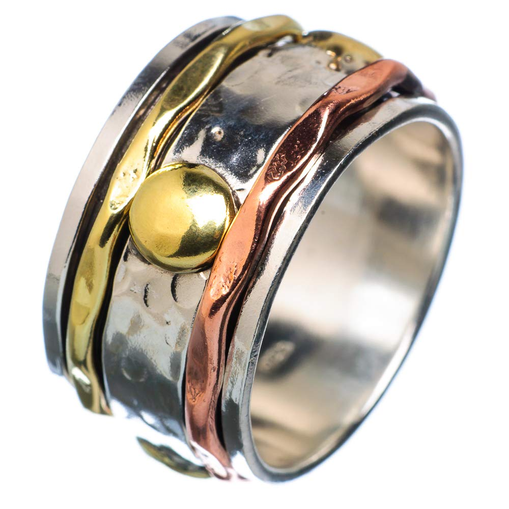Ana Silver Co Meditation Spinner Ring Size 10.75 Vintage RING932573 Bohemian 925 Sterling Silver - Handmade Jewelry