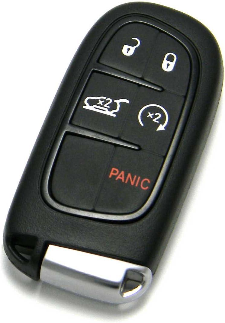 FCC ID: GQ4-54T // P//N: 68141580 OEM Jeep Keyless Entry Remote Fob 5-Button Smart Proximity Key