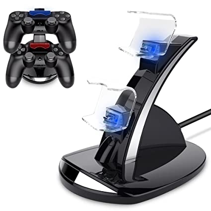 BEBONCOOL - Cargador controlador PS4 de doble choque con 4 ...