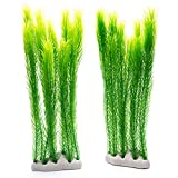 MACHUMA Artificial Aquarium Plants 2Pcs, Fish Tank Aquarium Decorations Background Green Water Plants, Non-toxic & Safe for all Fish & Pets