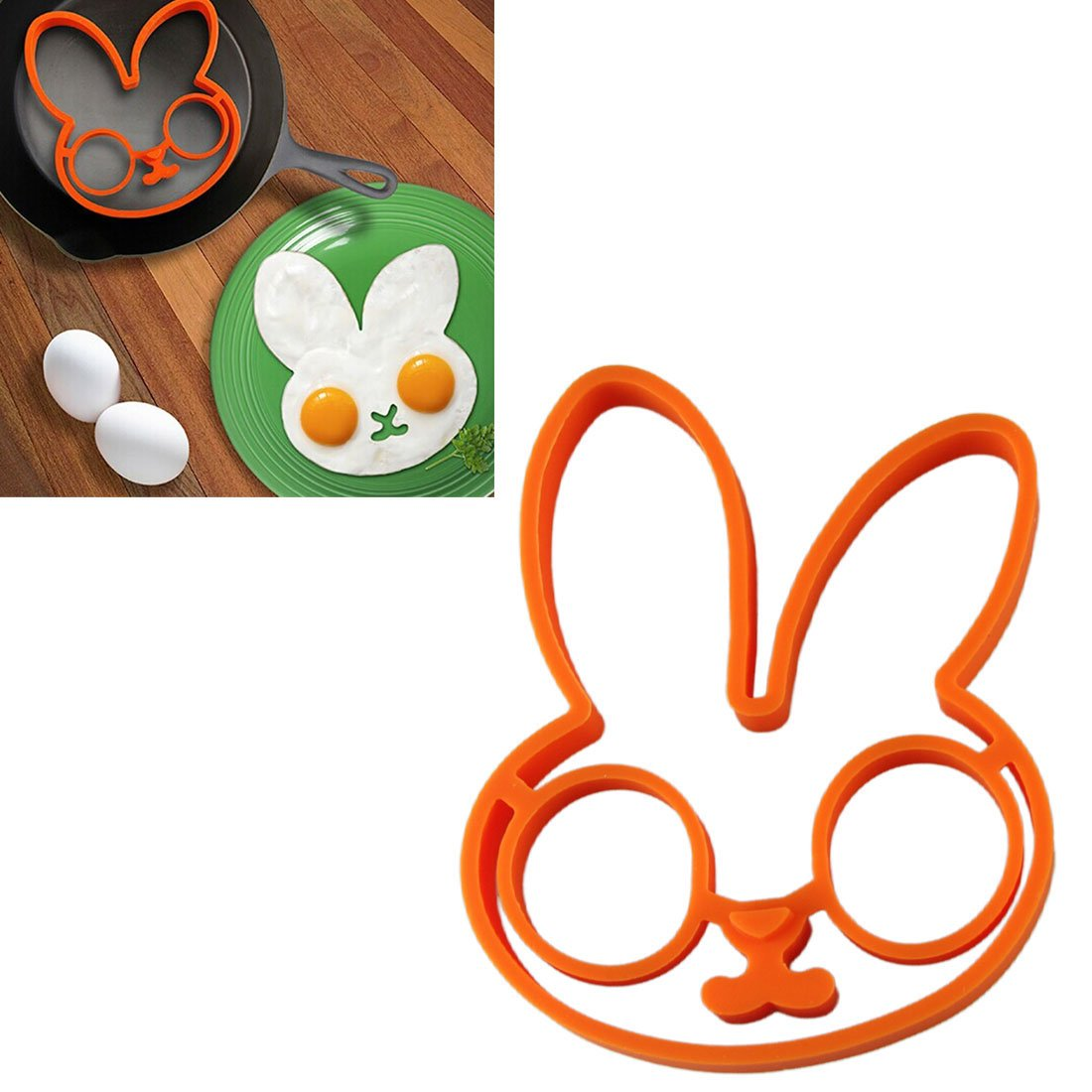 Amazon.com: VoberryNovelty Cute Rabbit egg Shaper Silicone Moulds Cooking Tools Supplies Kitchen Tools: Kitchen & Dining