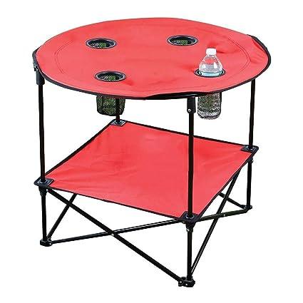 Amazon.com: Mesa auxiliar plegable para camping, portátil ...
