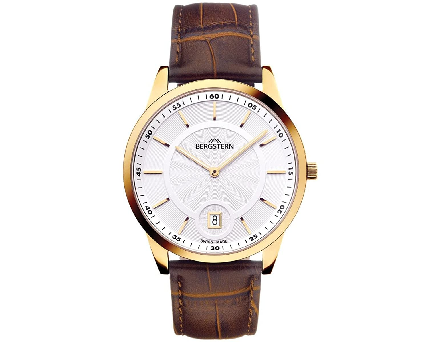 ARMBANDUHR MEN'S COLLECTION HARMONY BERGSTERN B006G031 .made SWISS whatch hoher QualitÄt MADE IN SVIZZERA.Cinturino