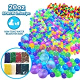 VIIVRIA Water Beads, 20 OZ (60,000 Beads) Kids Water Beads, Flash Water Beads for Bath Refill, Kids Tactile Toys, Sensory Toys, Vase Filler, Transparent Jelly Pearls 8 Pack Clear Water Beads