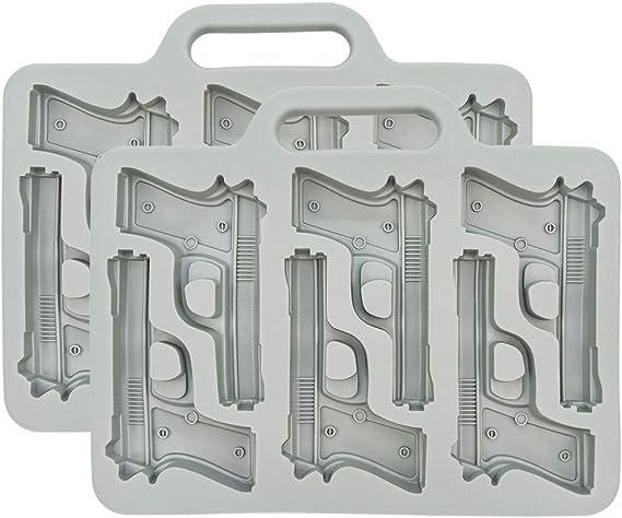Fairly Odd Novelties FON-10024-2PK Handgun Ice Cube Tray