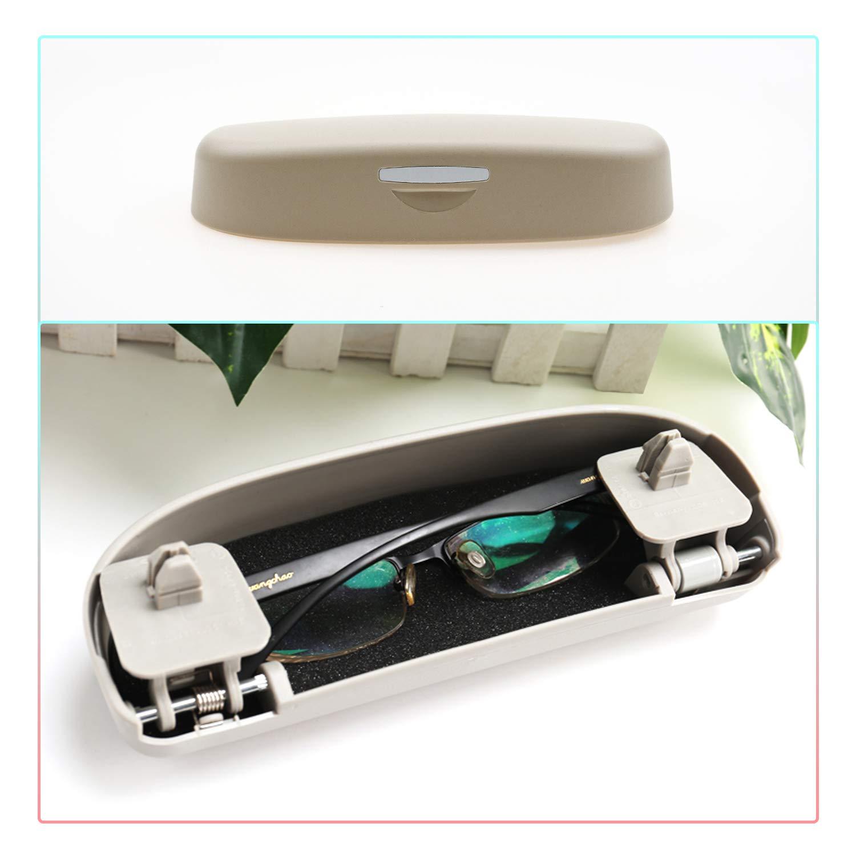 Beige CDEFG Auto Coche Gafas Caja Organizador Gafas de Sol Soporte Almacenamiento Bolsillos para Honda HR-V 2016 2017 2018 2019