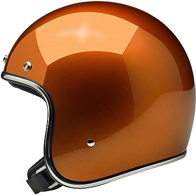 Biltwell Bonanza Solid Men's Open-Face Street Motorcycle Helmet - Gloss Copper/Medium: Automotive