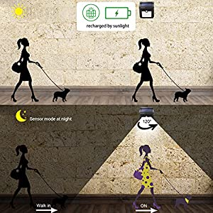Zookki Wireless Solar Lights 28 LEDs Solar Powered Motion Sensor Light Rechargeable Waterproof Security Wall Lights for Outdoor Outside Garden Driveway Patio Yard Pathway-2 Pack