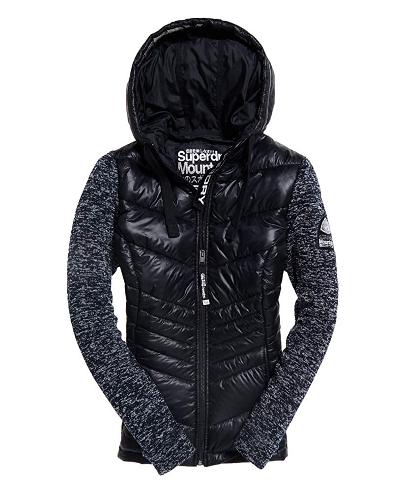 Navy Blizzard Marl L Superdry Women's Sd Storm Shine Ziphood Hoodie