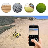 FEISIER Cloud Rover IV Cloud Companion RC Car Wi-Fi P2P Remote Control 1.3MP 720P HD Baby Monitor SPY Tank Car APP Control Movement Motion IP Camera Home Remote Camera with Charging Dock