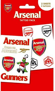 Official Arsenal Fc Tattoo Pack Amazon Co Uk Toys Games
