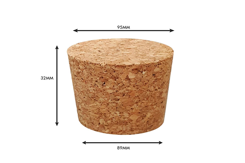 Tappi in sughero affusolati 127 mm ideale per barili di biscotti//barattoli di dolci e molto altro ancora. varie misure 6 mm