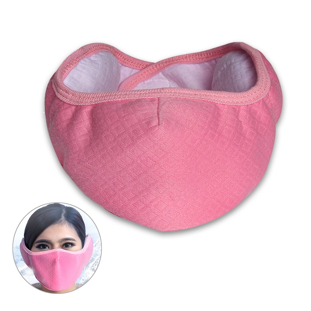 Half Face Mask Mouth Masks with Earmuffs Anti Dust Anti Haze Windproof Ski Mask Keep Warm for Winter Outdoor Sports and Activities Kiveta