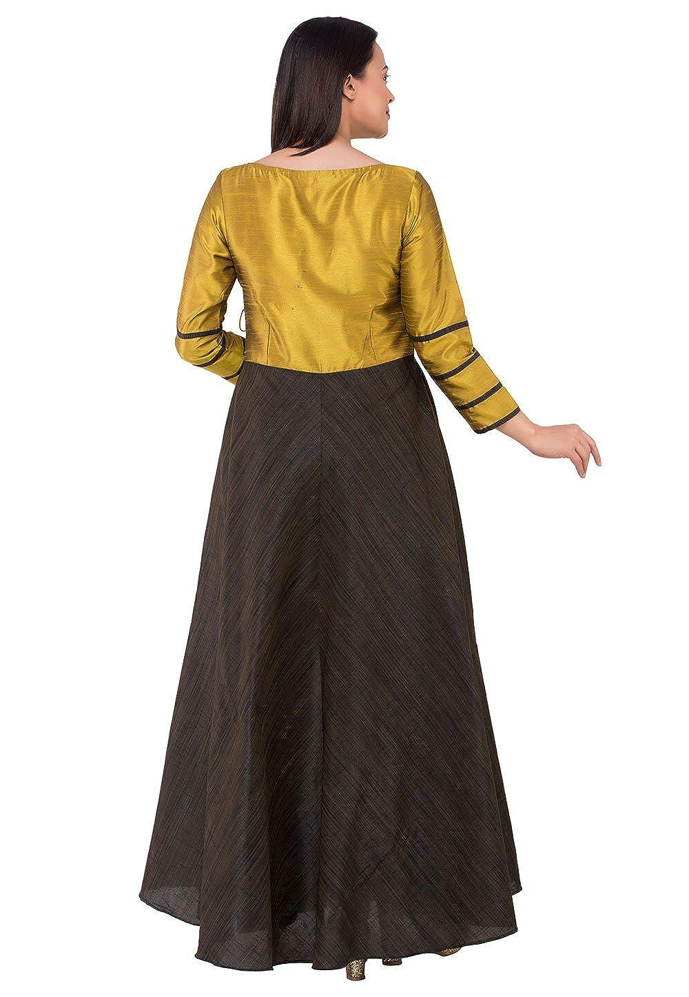 Amazon.com: Utsav Fashion - Traje de yugo de seda estilo ...