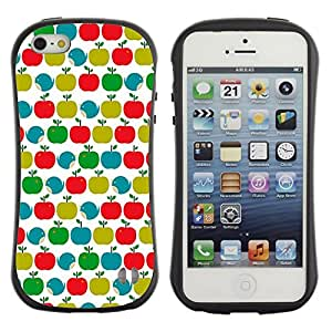 Paccase / Suave TPU GEL Caso Carcasa de Protección Funda para - Pattern Teal Green Red White Clean - Apple Iphone 5 / 5S