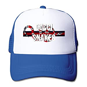 Adult Tyga Desiigner Cucci Snake Adjustable Mesh Hat Trucker Baseball Cap RoyalBlue