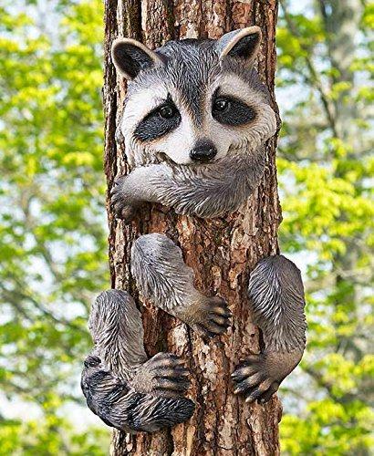 "GetSet2Save Raccoon Tree Hugger,7-1/2""W x 4-3/4""D x 13-3/8""H"