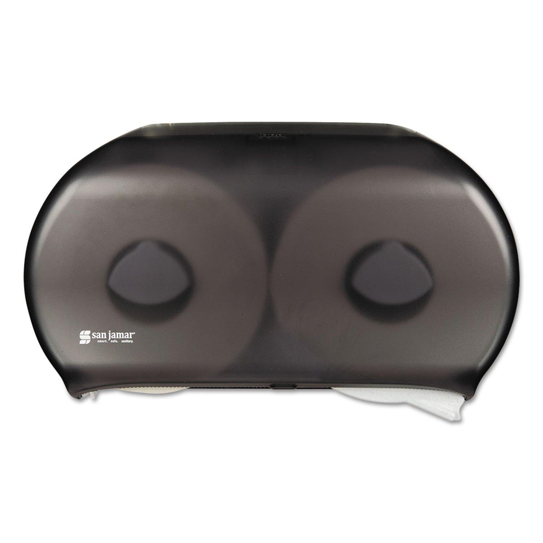 SANR4000TBK - Twin Roll Jumbo Tissue Dispenser, 19 X 5 1/4 X 12, Transparent Black