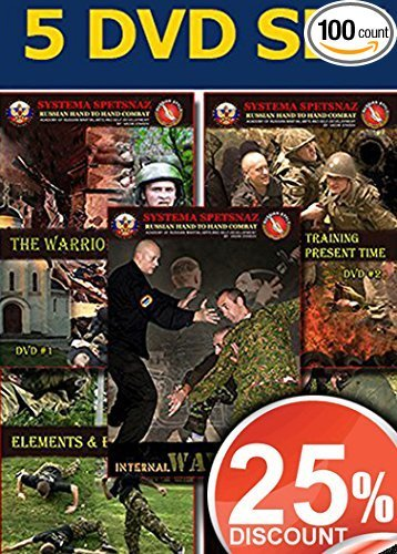 SELF DEFENSE TRAINING DVDS - Martial Arts Instructional Videos of Russian Martial Art System - Close Hand-to-Hand Combat 5 DVD set - 25% OFF