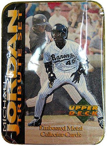 (1995 Upper Deck Michael Jordan Tribute Embossed Metal Collector Cards )